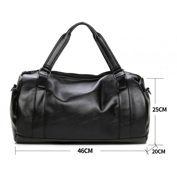 Brand Young Men Travel Bag Leather Duffle Tote Vintage Handbags Large Men Business Luggage Bag With ...