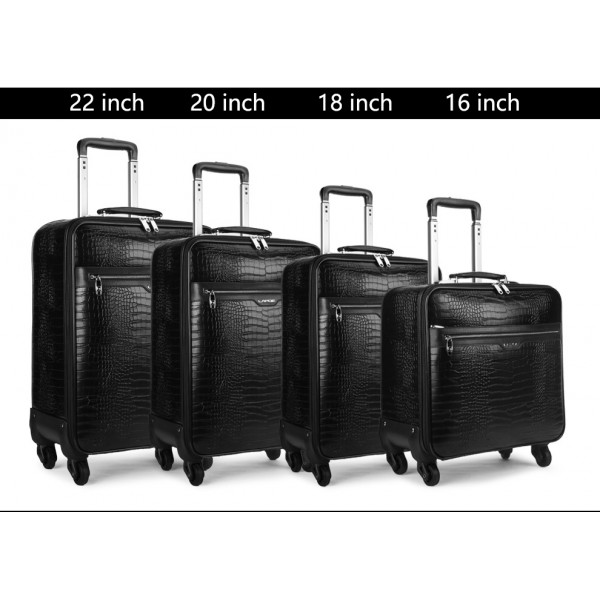 travel luggage spinner leather trolley suitcases with wheels