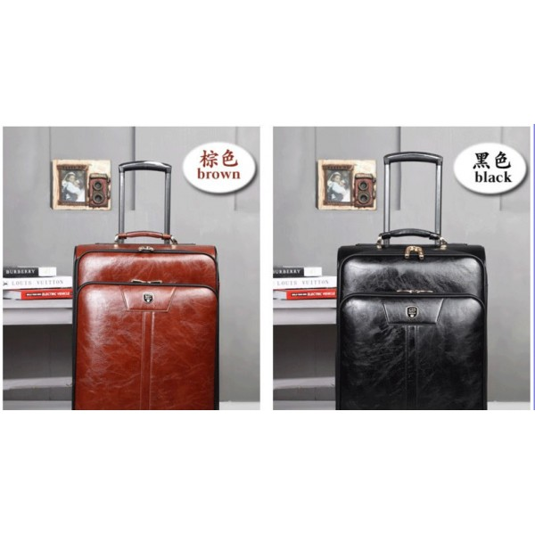 16 - 24inch retro leather travel luggage suitcases