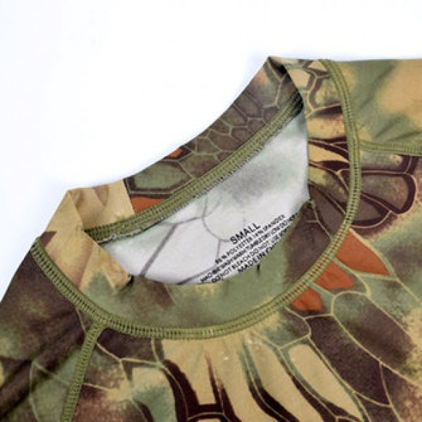 Camouflage Tight-fitting Quick-drying T-shirts Outdoor Tactical Elastic Long-sleeved Training Tees