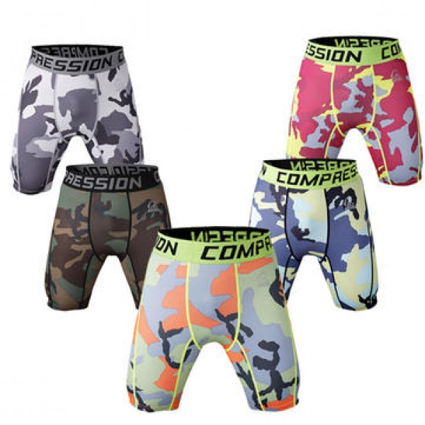 Pro Men Quick Drying Stretch Thin Dacron Camouflag...