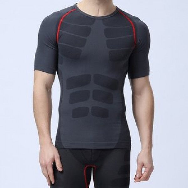 Short Sleeve Mens Professional Compression Tights ...