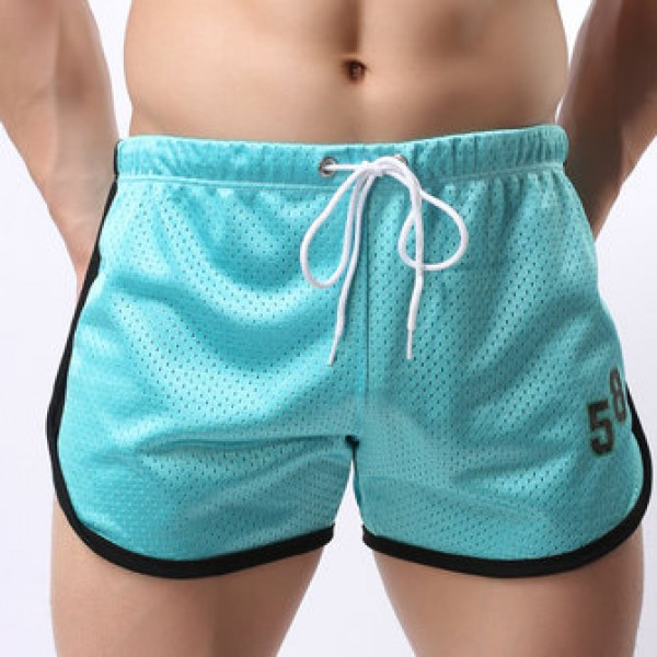 Athletic Running Shorts for Men Double Mesh Quick Qry Fit Breathable Bermuda Boxer Shorts
