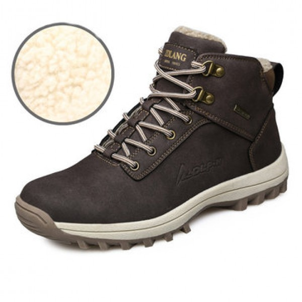 Men Winter Snow Boots Outdoor Fashion Sneaker Supe...