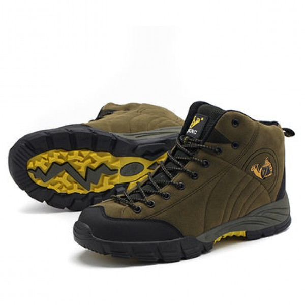 Outdoor Men Shoes Breathable Climbing Waterproof A...