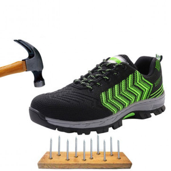 TENGOO Safety Shoes Work Shoes Steel Teo Mens Outd...