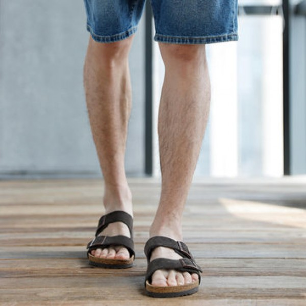 Aishoes Soft Leather Wooden Men Sandals Thick Bottom Wear Resistance Non-slip  Summer Beach Sandals From Xiaomi Youpin
