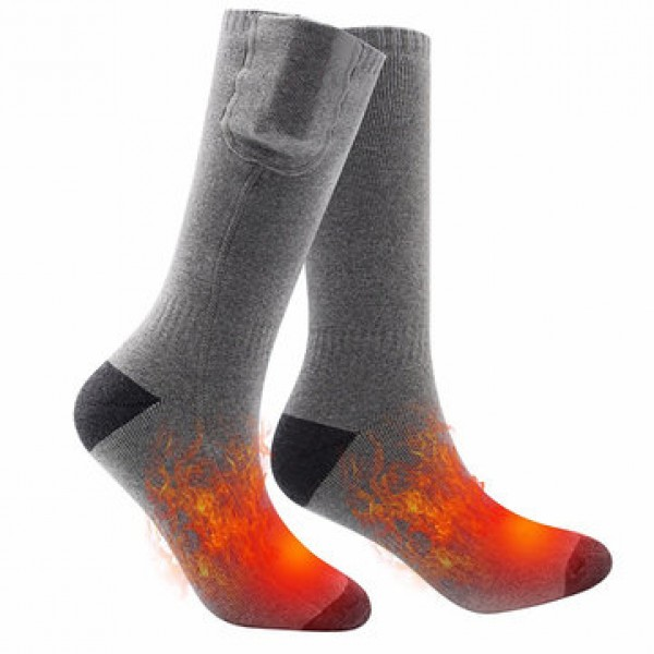 Cotton Electric Rechargeable Battery Heated Socks ...