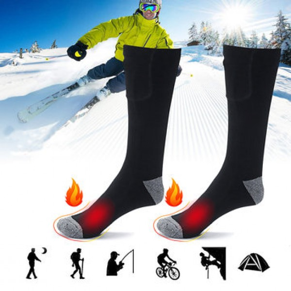 1 Pair Rechargeable Electric Heated Socks Cycling ...