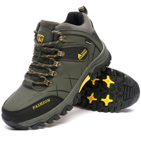 Mens Big Size Trail Hiking Boots Waterproof Athlet...