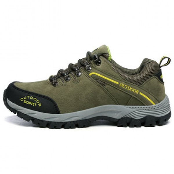 Men Leather Waterproof Outdoor Shoes Hiking Jungle...