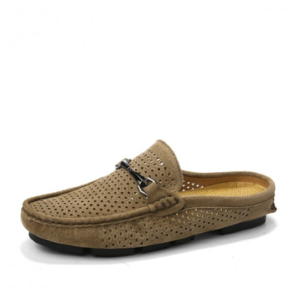 Men Perforation Slippers Shoes Breathable Quick Dr...