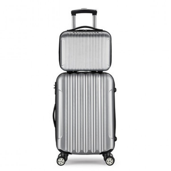 2 Pcs Suitcase Set Carry On Luggage Boarding Troll...