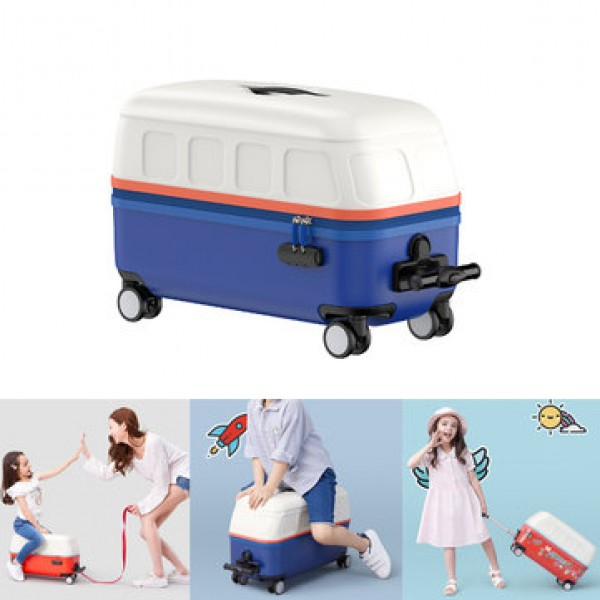 Zhixing 20inch 30L Children Suitcase Draw-bar Trolley Luggage Sit To Ride Carry-on Case Outdoor Trav...