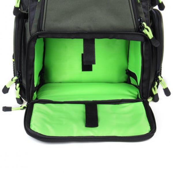 22/64L Backpack Fishing Bag Travel Camping Storage Bag With Lure Boxes