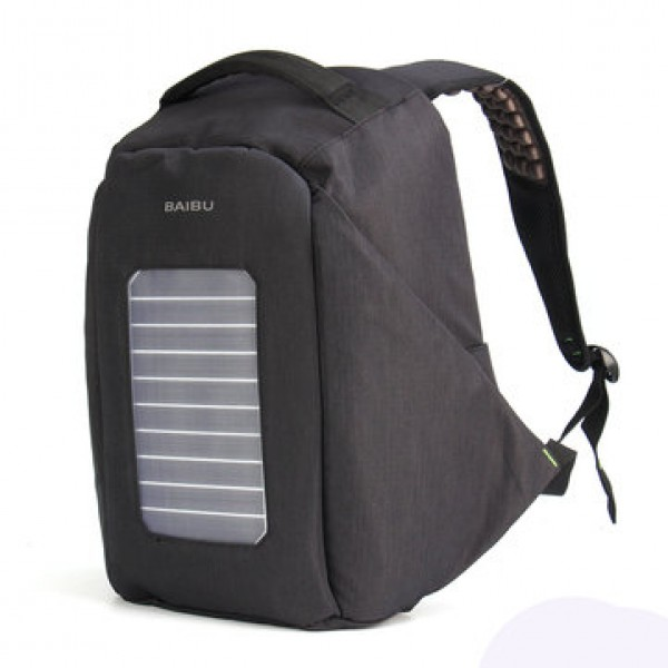 16 inch Waterproof Solar Panel Backpack Laptop USB Charger Outdoor Travel Camping Bags
