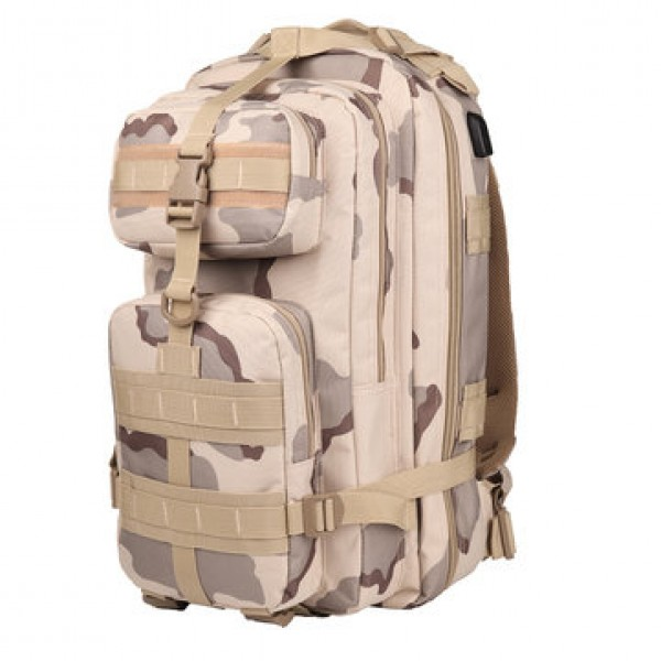 36L Outdoor Military Tactical Laptop USB  Backpack Waterproof 900D Oxford Rucksack Camping Hiking