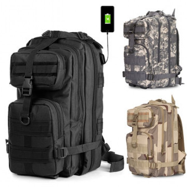 36L Outdoor Military Tactical Laptop USB  Backpack...