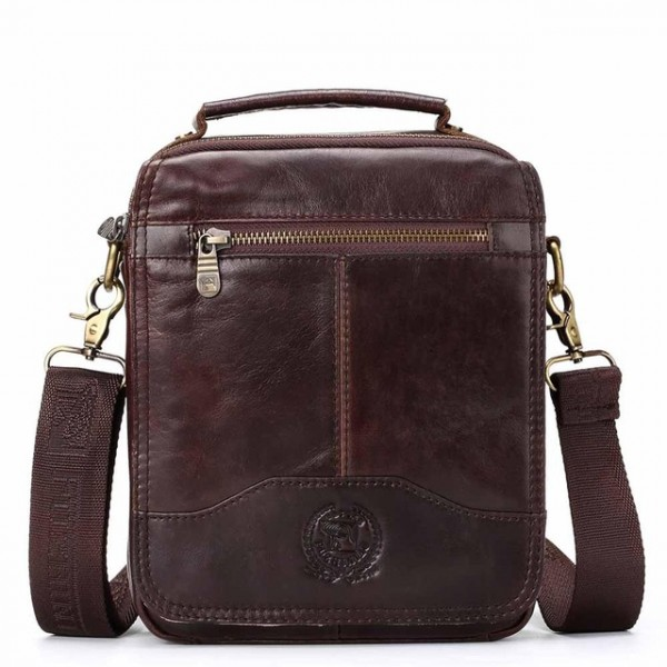 CONTACT'S New Vintage Men's Bag Genuine Leather Me...