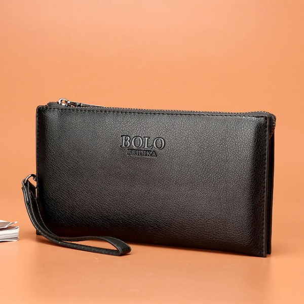 FEIDIKABOLO Male Leather Purse With Coin Bag Men's...
