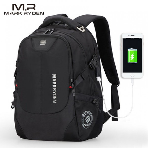 Mark Ryden Man Backpack Multi-layer Space 15.6 inch Laptop USB Recharging Travel Male Bag Anti-thief...