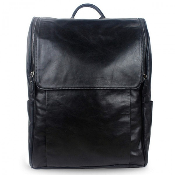 Men Backpacks Genuine Leather casual for laptop ba...