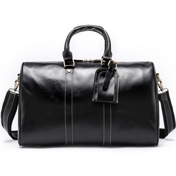 Men Genuine Leather Travel Bag for Luggage Duffle ...